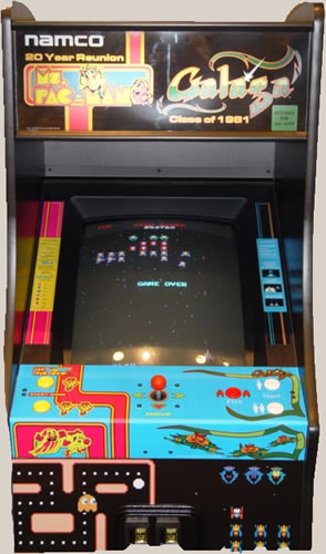 Ms. Pacman/Galaga and Pacman Combo Video Game