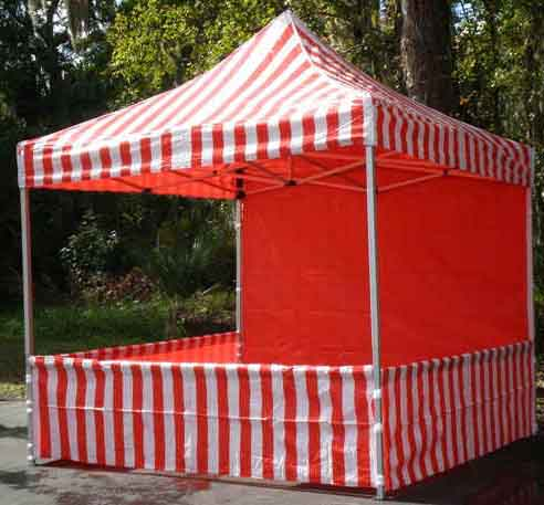 Carnival Booth - Full (Red and White Stripe)