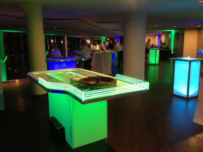 Casino LED Roulette Table