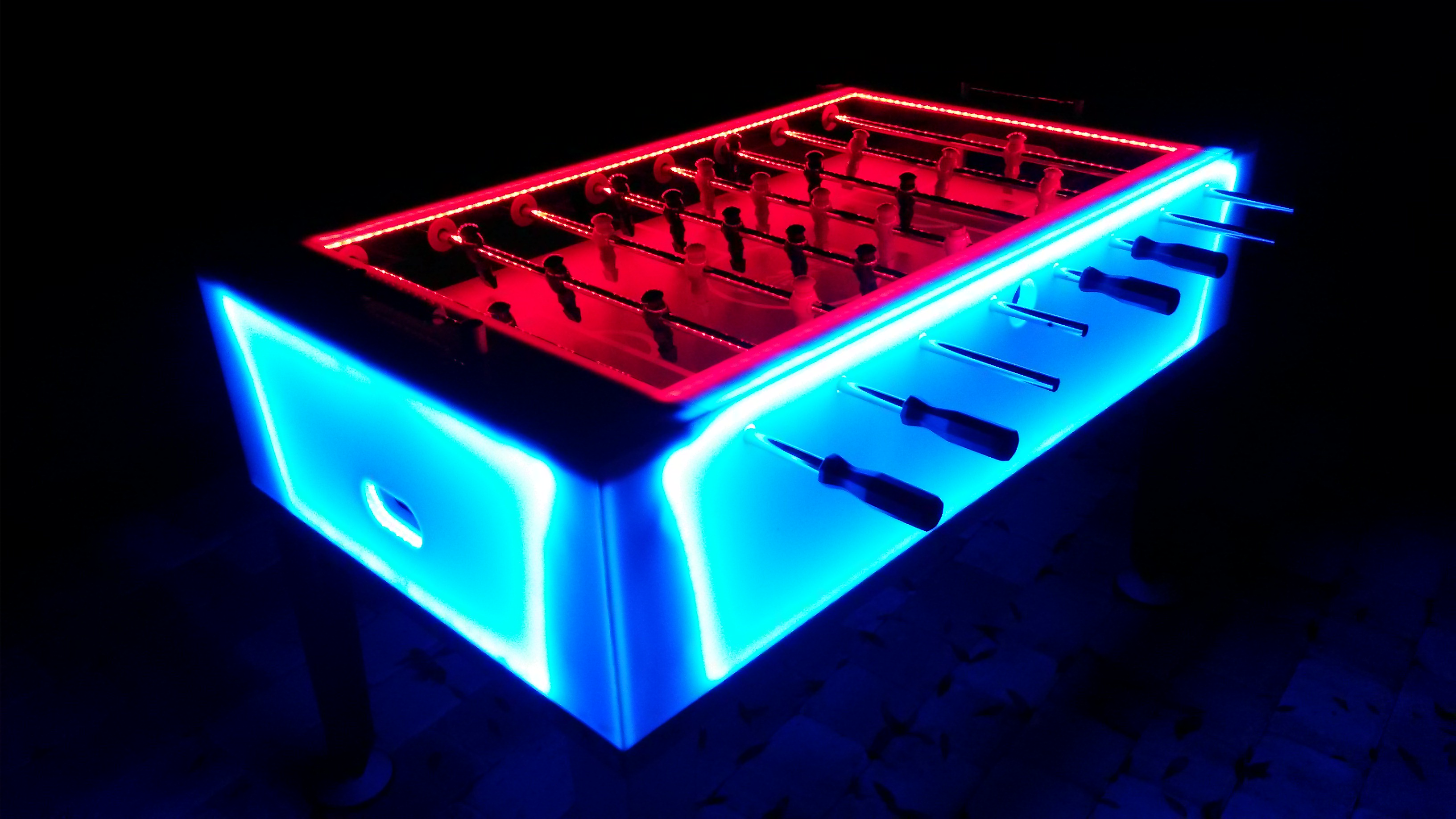 LED Glow Foosball Table