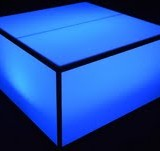 LED Lounge Square Table